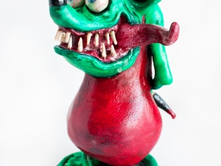 Rat Fink Sculpture
